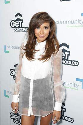 Naya Rivera visits Collins Family High School