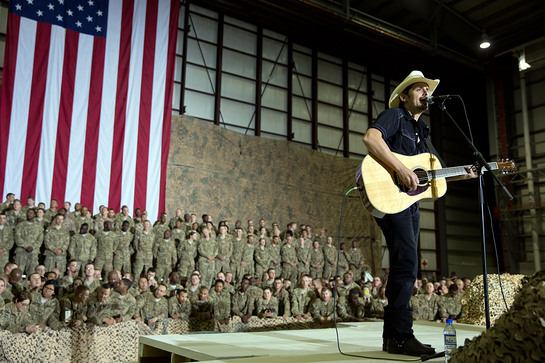 Brad Paisley Performs In Afghanistan