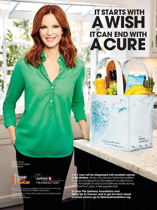 Marcia Cross appears in the PSA with The Safeway Foundation and Stand Up To Cancer