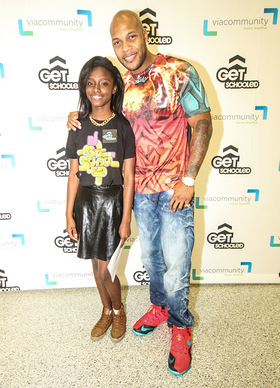 Flo Rida and Miami Edison student