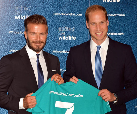 The Duke of Cambridge and David Beckham launch the #WhoseSideAreYouOn campaign