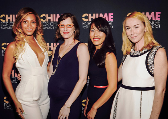 Beyonce, Jane Chen, Amy Shaw from Millennium Promise and Frida Giannini of Gucci