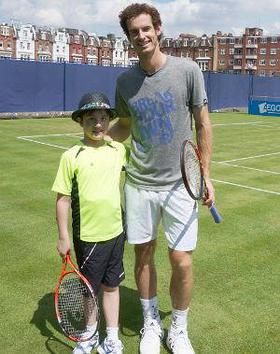 Dylan with Andy Murray