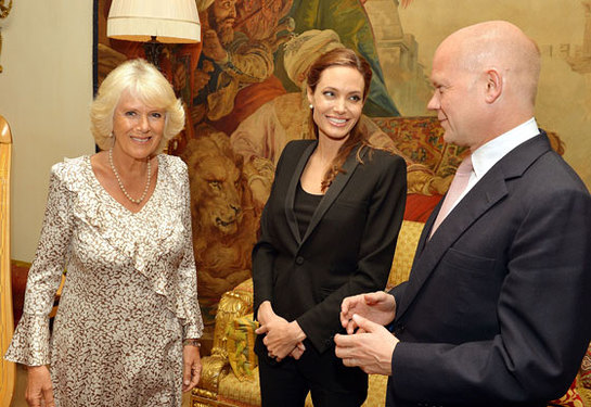 Duchess of Cornwall Meets Angelina Jolie and William Hague