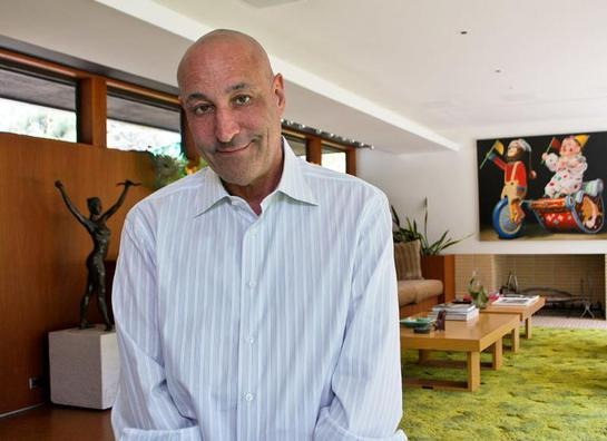 Sam Simon at his home in Pacific Palisades