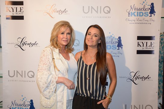 Kathy Hilton and Kyle Richards Attend Event For Miracles for Kids