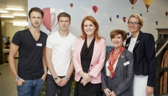 Sarah Ferguson helps open first specialist Teenage Cancer Trust unit in the South West