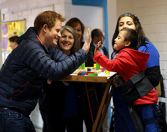 Prince Harry meets children, parents and carers at the Fundación Amigos de Jésus