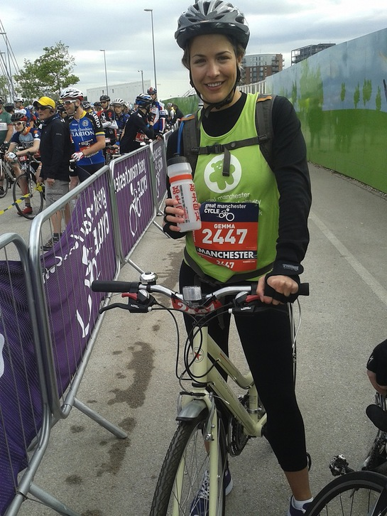 Gemma Atkinson Rides The 2014 Great Manchester Cycle