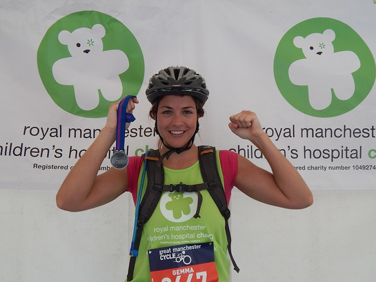 Gemma Atkinson Completes The 2014 Great Manchester Cycle