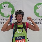 Gemma Atkinson Completes Great Manchester Cycle
