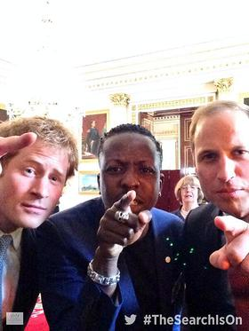 Prince Harry and Prince William Join Jamal Edwards For A Selfie