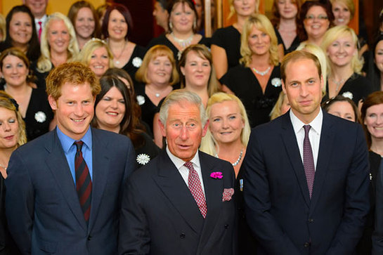 The Prince of Wales with The Duke of Cambridge and Prince Harry at the annual BITC Responsible Business Awards