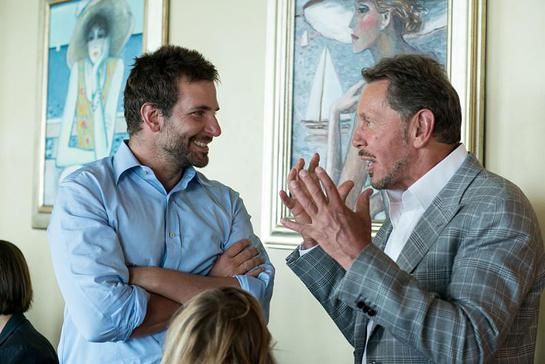 Bradley Cooper and Larry Ellison