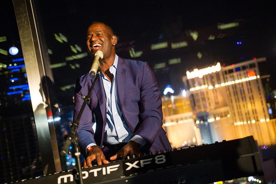Brian McKnight Gives a Private Performance at Mandarin Bar on the 23rd floor of Mandarin Oriental, Las Vegas