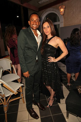 Hill Harper and Amy Malin