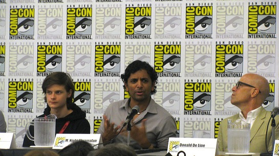 M Night Shyamalan at Comic Con