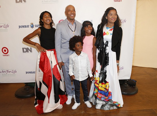 Russell Simmons And Family