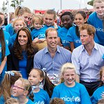 The Duke And Duchess Of Cambridge Join Prince Harry And UNICEF At Commonwealth Games