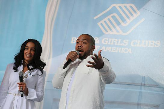 Timothy (Timbaland), center, and Monique Mosley issue a #GreatFutures $1 Million Match Challenge through their Always Believing Foundation at Boys & Girls Clubs of America's launch of the Great Futures Campaign