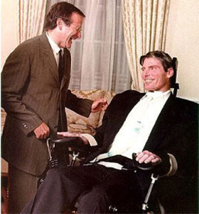 Robin Williams with Christopher Reeve