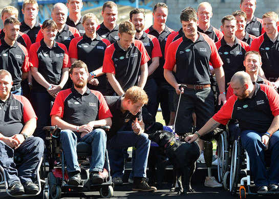 Prince Harry with the Invictus Games British Team