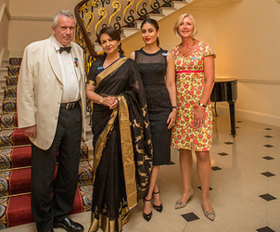 Sharmila Tagore, Kareena Kapoor Khan, Martin Bell OBE and UNICEF UK Deputy Executive Director, Anita Tiessen