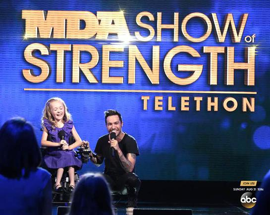 Fall Out Boy bassist Pete Wentz will open the 49th MDA Show of Strength Telethon alongside MDA's 2014 National Goodwill Ambassador Reagan Imhoff