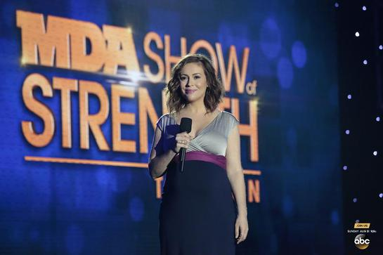 Alyssa Milano at 2014 MDA Show Of Strength Telethon