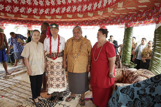 Tsunami-hit community honours Ban with chief title