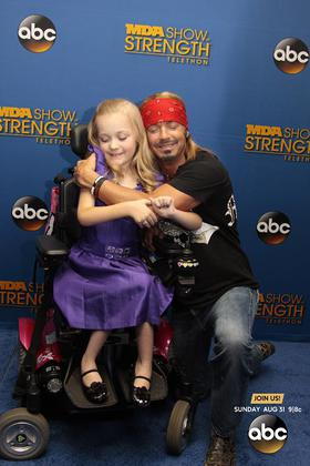 Bret Michaels took his support behind-the-scenes at the 2014 MDA Show of Strength Telethon
