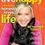 Olivia Newton-John Graces First Anniversary Cover Of Live Happy Magazine