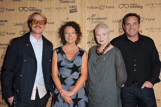 Ross Harding, Julia Groves, Dame Vivienne Westwood, Troy Wiseman, CEO EcoPlanet Bamboo