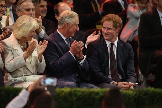 The Prince of Wales and The Duchess of Cornwall support Prince Harry at the opening ceremony