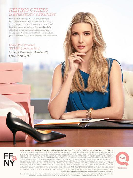 Ivanka Trump Supports FFANY Shoes on Sale