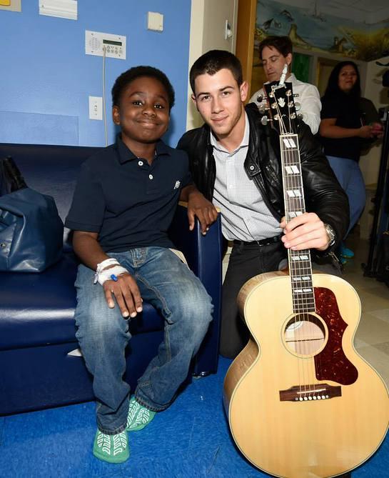 Nick Jonas At Children's Hospital at Montefiore on September 8, 2014 in New York City