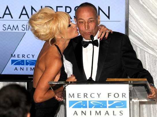 Pamela Anderson and Sam Simon