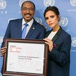 Victoria Beckham Named As UNAIDS International Goodwill Ambassador
