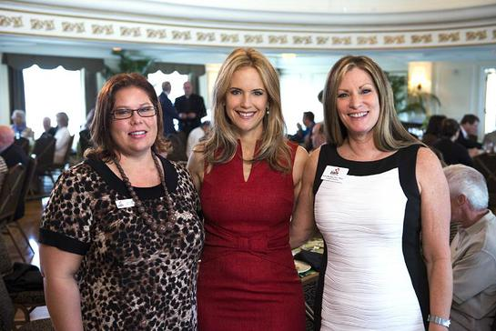 Kelly Preston visited with the Executive Director for the PACE Center for Girls, Lynn Mattiace and PACE Board Member Laura Snell at the inaugural Charity Coalition Luncheon