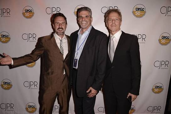 David Arquette and Greg Germann with OPCC's Executive Director, John Maceri