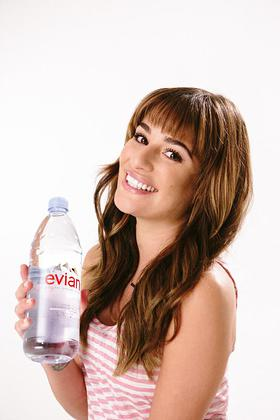 evian Natural Spring Water Partners With Lea Michele