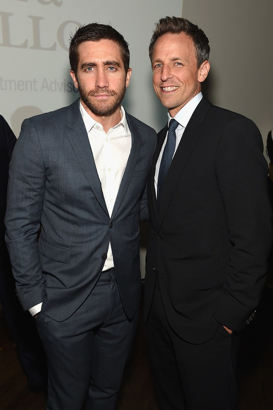 Jake Gyllenhaal and Seth Meyers