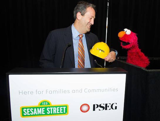 PSE&G President Ralph LaRossa teams up with Sesame Street's Elmo to unveil Let's Get Ready