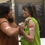 Amanda Peet And Jo Frost Get A Shot, Give A Shot