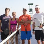 Gavin Rossdale Plays Charity Tennis