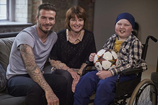 David Beckham With Lloyd Burton