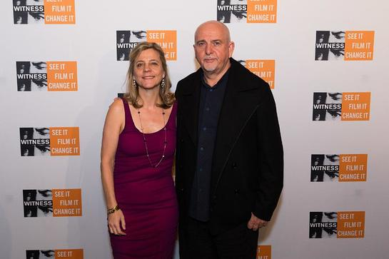 Yvette Alberdingk Thijm, executive director and WITNESS co-founder, musician, human rights advocate Peter Gabriel