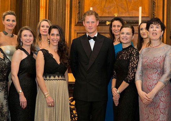 Prince Harry with members of 100 Women in Hedge Funds