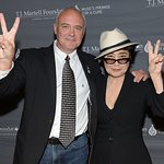 Yoko Ono Presents Hard Rock International With Award At TJ Martell Foundation Gala