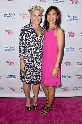 P!nk and Dr. Maggie DiNome, Chief of General Surgery at Saint John's Health Center and Acting Director of the Breast Center